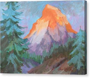Matterhorn Sunrise Canvas Print by Diane McClary