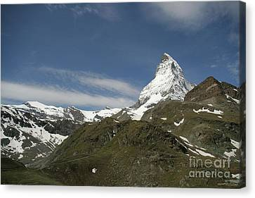 Matterhorn With Alpine Landscape Canvas Print by Christine Amstutz