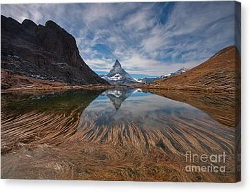 Matterhorn Zermatt Canvas Print by Caroline Pirskanen