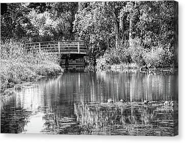 Matthaei Botanical Gardens Black And White Canvas Print
