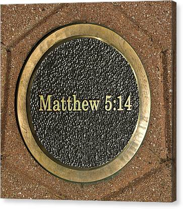 Canvas Print featuring the photograph Matthew Bronze by Michael Flood
