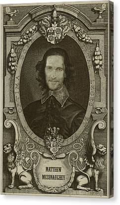Portraits Canvas Print - Matthew Mcconaughey   by Serge Averbukh