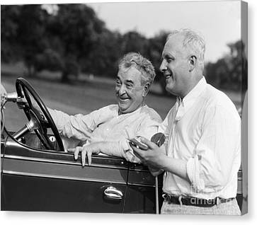 Mature Men At Golf Course, C.1920-30s Canvas Print by H. Armstrong Roberts/ClassicStock