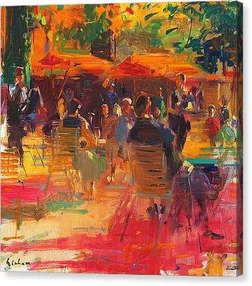 Signature Canvas Print - Maturing Sun  Paris by Peter Graham