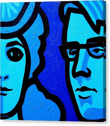 Maud Gonne And William Butler Yeats Canvas Print by John  Nolan