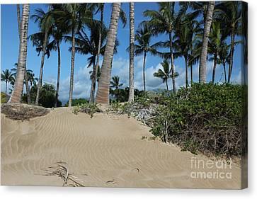 Canvas Print featuring the photograph Maui Beach by Wilko Van de Kamp
