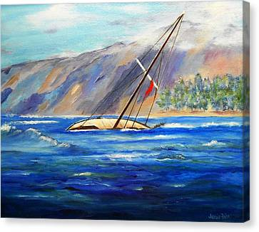 Maui Boat Canvas Print by Jamie Frier
