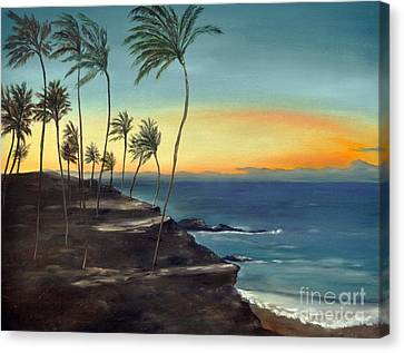 Canvas Print featuring the painting Maui by Carol Sweetwood