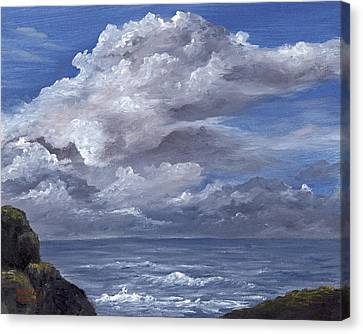 Canvas Print featuring the painting Maui Clouds by Darice Machel McGuire