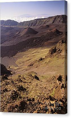 Maui, Haleakala Crater Canvas Print by Mary Van de Ven - Printscapes