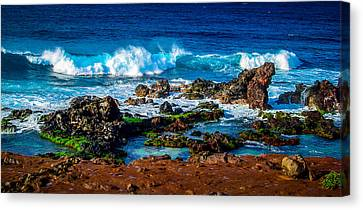 Maui Hawaii Breaking Surf  Canvas Print