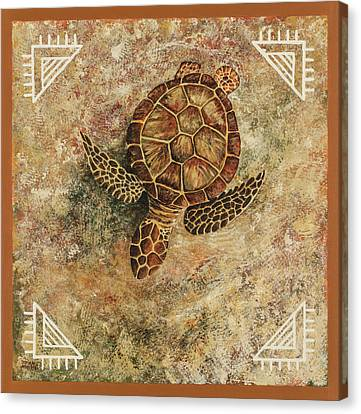 Canvas Print featuring the painting Maui Honu by Darice Machel McGuire