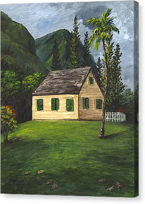 Canvas Print featuring the painting Maui Nature Center by Darice Machel McGuire