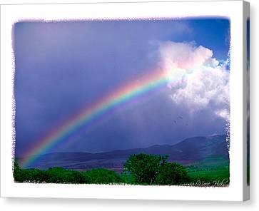 Canvas Print featuring the photograph Maui Rainbow by Marie Hicks