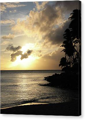 Canvas Print featuring the photograph Maui Sunset Vertical by Rau Imaging