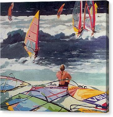 Maui Surf Canvas Print