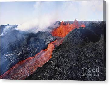 Mauna Loa Eruption Canvas Print by Joe Carini - Printscapes