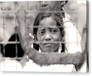 Schoolyard Canvas Print - Mauritius Girl by Robert Lacy