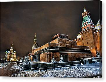 Canvas Print featuring the photograph Mausoleum  by Gouzel -