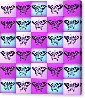 Mauve Fantasy Canvas Print by Cathy Jacobs