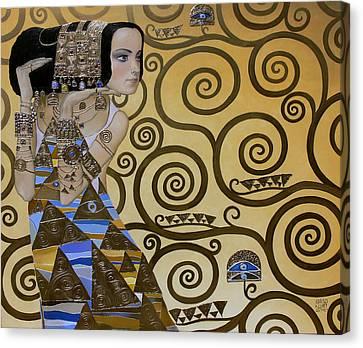 Mavlo - Klimt Canvas Print by Valeriy Mavlo