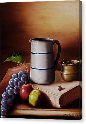Canvas Print featuring the painting Maws Pitcher by Gene Gregory