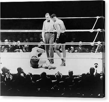 Max Baer 1909-1959, Knocked Canvas Print by Everett