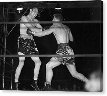 Boxer Canvas Print - Max Baer And Lou Nova Boxing by Underwood Archives