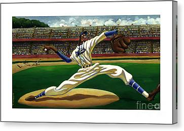 Max On The Mound Canvas Print by Keith Shepherd