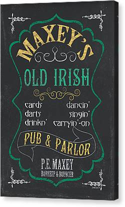 Maxey's Old Irish Pub Canvas Print by Debbie DeWitt