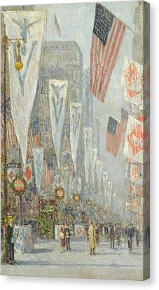 May 1919, 930 Am Canvas Print by Childe Hassam