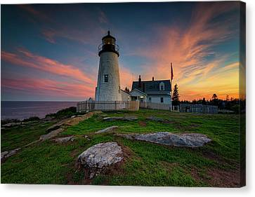 May Evening At Pemaquid Point Lighthouse Canvas Print