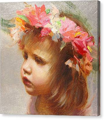 May Flowers Canvas Print by Anna Rose Bain