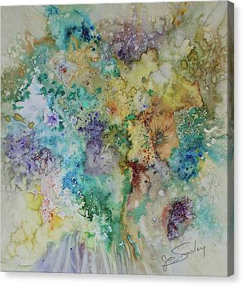 Canvas Print featuring the painting May Flowers by Joanne Smoley