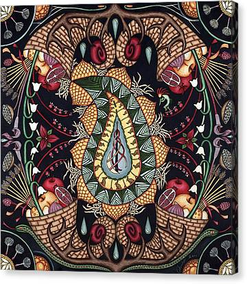 May Mandala Or Fertility Canvas Print by Jess-o
