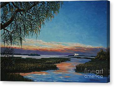 May River Sunset Canvas Print