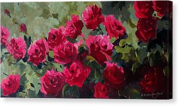 May Roses Canvas Print by Sandra Strohschein