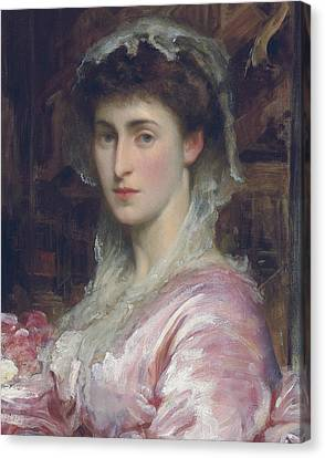 May Sartoris, Mrs Henry Evans Gordon Canvas Print by Frederic Leighton