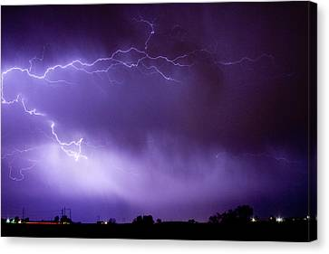 The Lightning Man Canvas Print - May Showers 2 In Color - Lightning Thunderstorm 5-10-11 Boulder by James BO  Insogna
