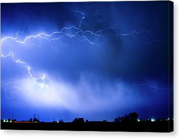 May Showers Two In Color - Lightning Thunderstorm 5-10-2011 Canvas Print