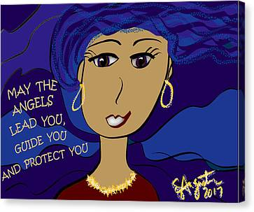 Lead The Life Canvas Print - May The Angels Lead You, Guide You And Protect You by Sharon Augustin