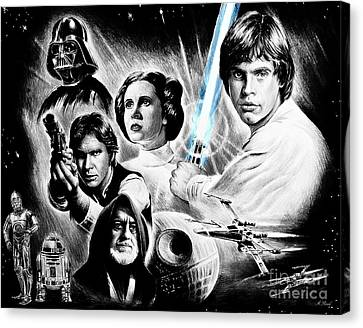 May The Force Be With You  Light Saber Edit Canvas Print by Andrew Read