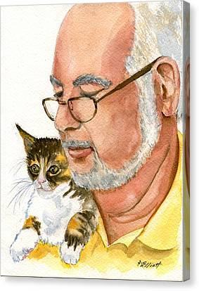 Maya Loves Her Papa Canvas Print by Marsha Elliott