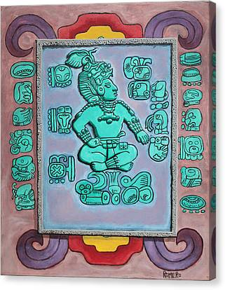 Mayan Prince Canvas Print by Antonio Romero