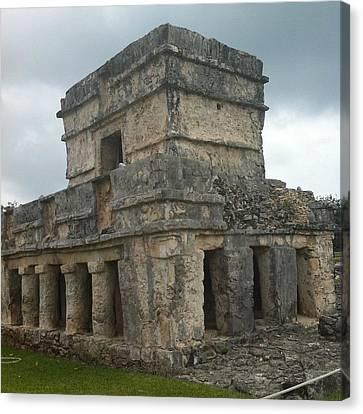 Mayan Stone Homes  Canvas Print