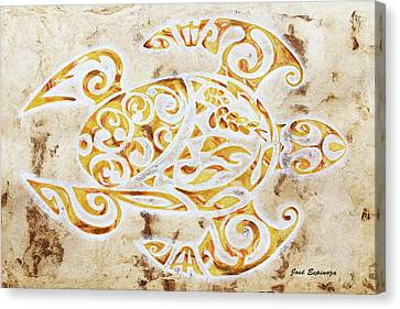 Mayan Turtle Canvas Print by J- J- Espinoza