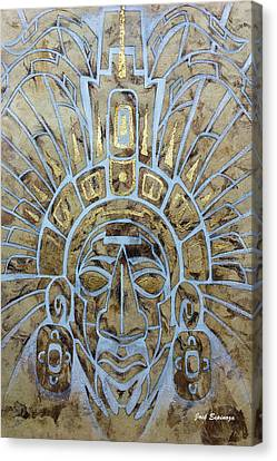 Mayan Warrior Canvas Print by J- J- Espinoza