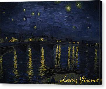 Vincent Canvas Print - Maybe We Can Take Death To Go To A Star? by Bartosz Armusiewicz