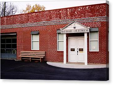 Mayberry Courthouse Nc Canvas Print by Bob Pardue