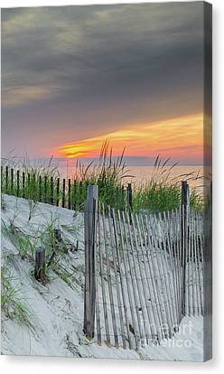 Canvas Print featuring the photograph Mayflower Beach by Mike Ste Marie